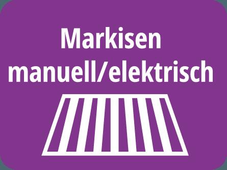 Markisen manuell/elektrisch